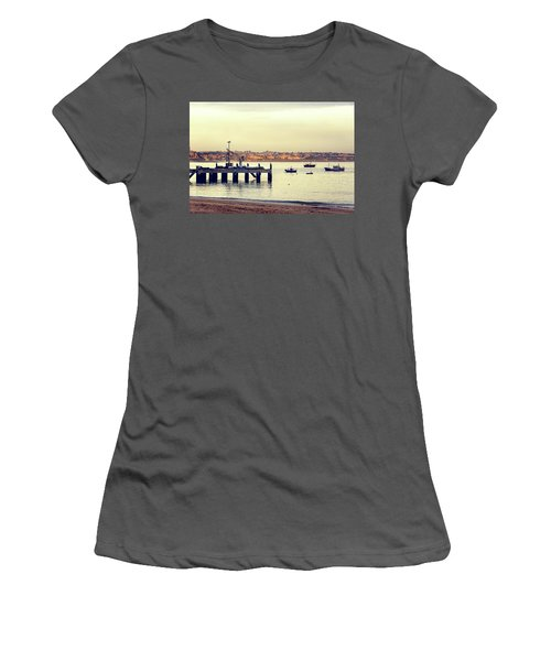 Women's T-Shirt (Junior Cut) featuring the photograph Sunset By The Sea by Marion McCristall