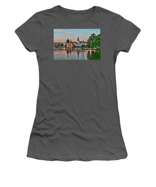 Sunset Cruise Prague Women's T-Shirt (Athletic Fit)