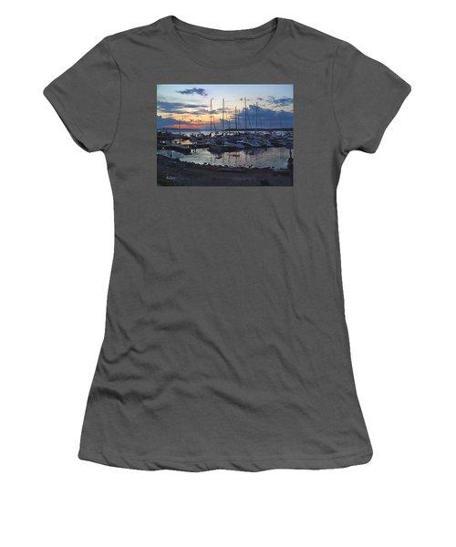 Women's T-Shirt (Junior Cut) featuring the photograph Sunset Dock by Felipe Adan Lerma