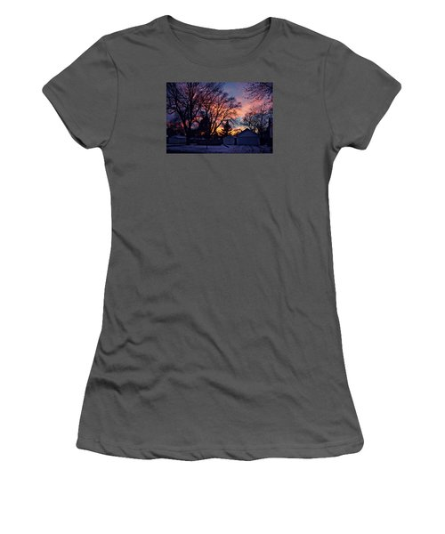 Sunset From My View Women's T-Shirt (Junior Cut) by Kathy M Krause