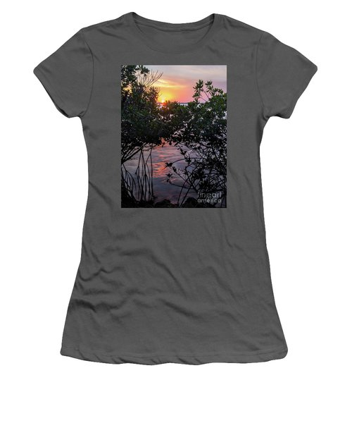 Sunset, Hutchinson Island, Florida  -29188-29191 Women's T-Shirt (Athletic Fit)