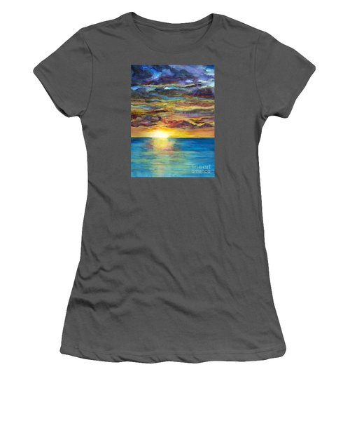 Sunset II Women's T-Shirt (Junior Cut) by Suzette Kallen
