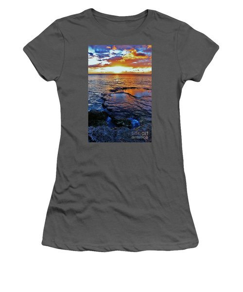 Sunset In A Tide Pool II Women's T-Shirt (Athletic Fit)
