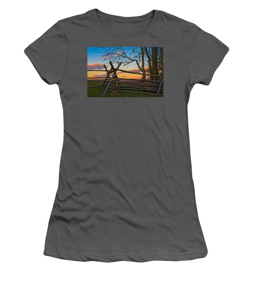 Sunset In Antietam Women's T-Shirt (Athletic Fit)