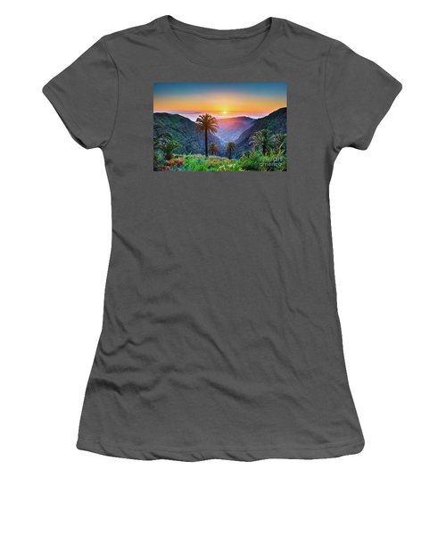 Sunset In The Canary Islands Women's T-Shirt (Junior Cut) by JR Photography