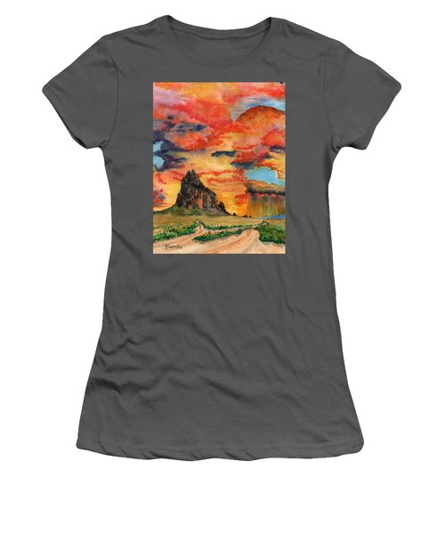 Sunset In The West Women's T-Shirt (Athletic Fit)