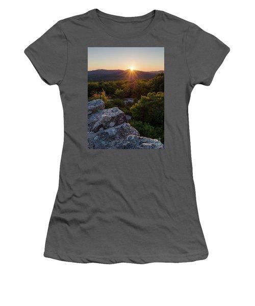 Sunset, Mt. Battie, Camden, Maine 33788-33791 Women's T-Shirt (Athletic Fit)