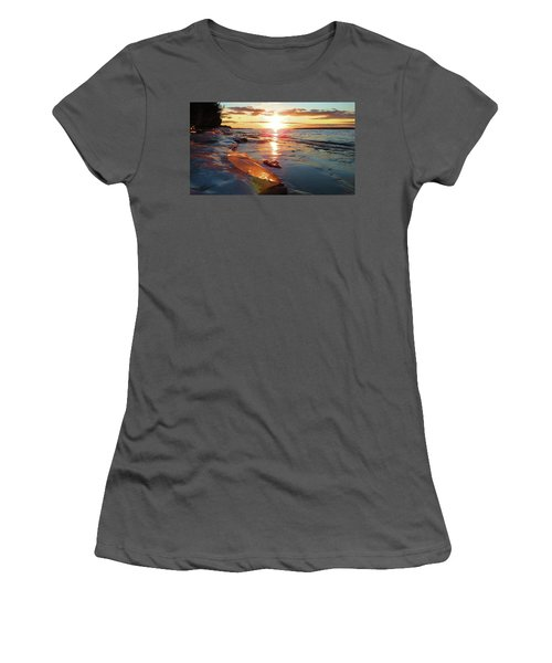 Sunset On Ice Women's T-Shirt (Athletic Fit)