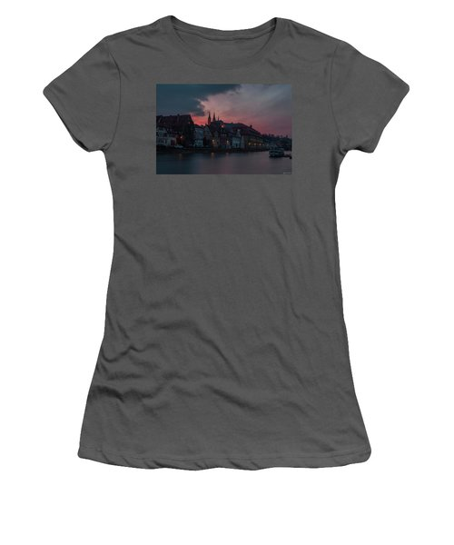 Sunset Over Bamberg Women's T-Shirt (Junior Cut) by Photo Escape