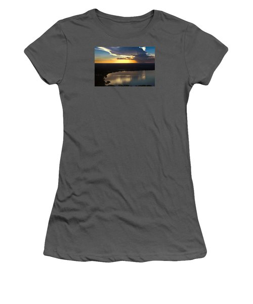 Women's T-Shirt (Junior Cut) featuring the photograph Sunset Over Lake by Carolyn Marshall
