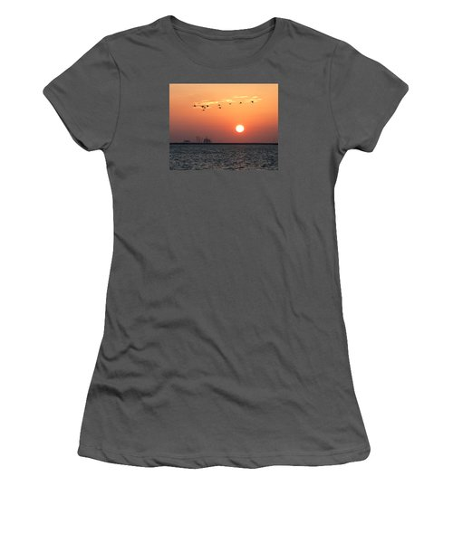 Sunset Over The Bay Women's T-Shirt (Athletic Fit)