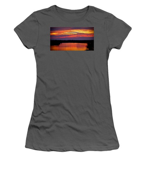 Sunset Over The Tomoka Women's T-Shirt (Athletic Fit)