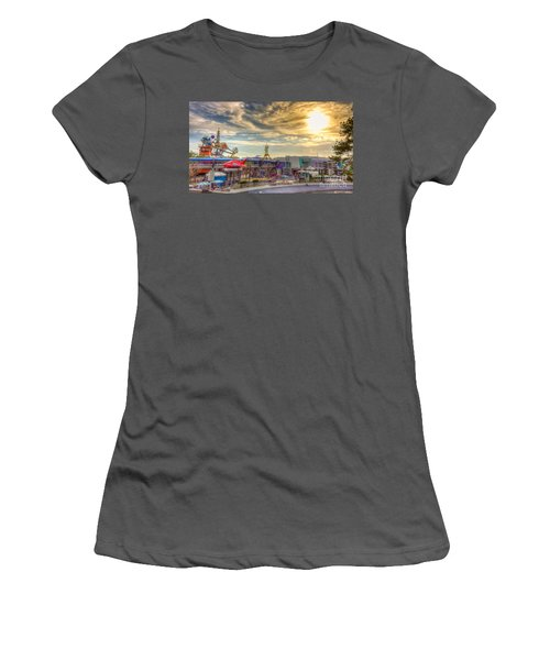 Sunset Over Tomorrowland Women's T-Shirt (Athletic Fit)