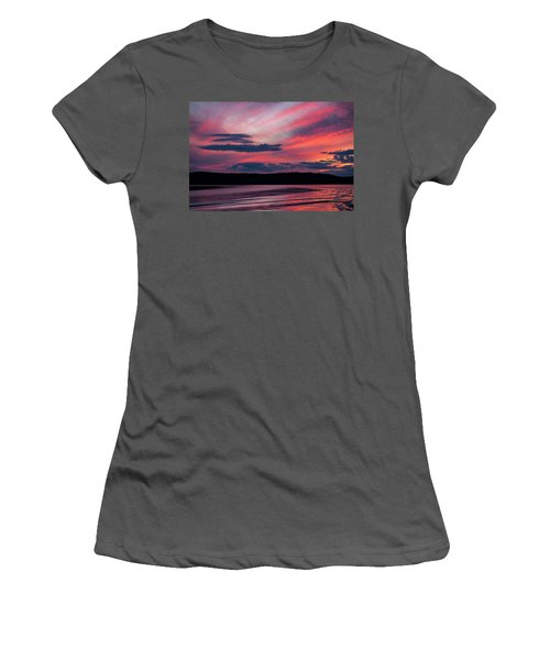 Sunset Red Lake Women's T-Shirt (Athletic Fit)