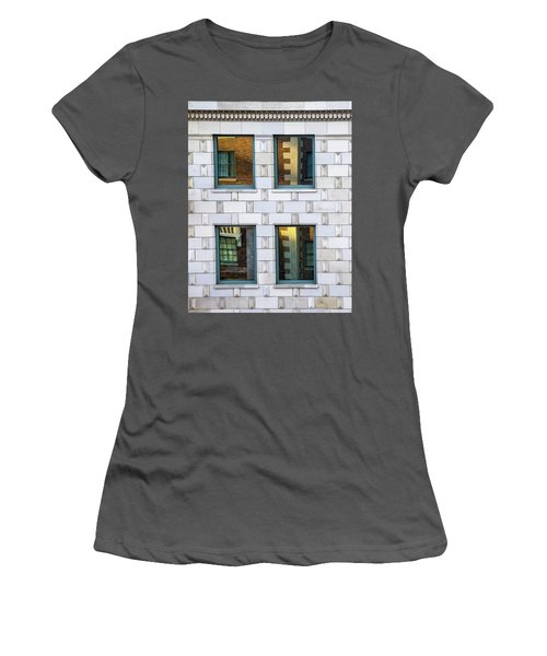 Sunset Reflections In Windows Women's T-Shirt (Junior Cut) by Gary Slawsky