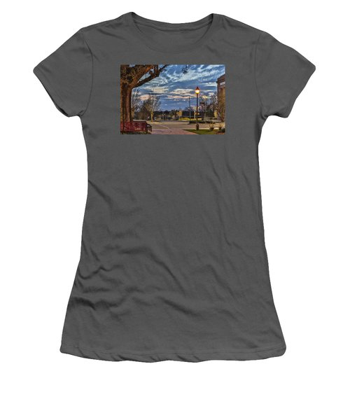 Sunset Square Women's T-Shirt (Athletic Fit)