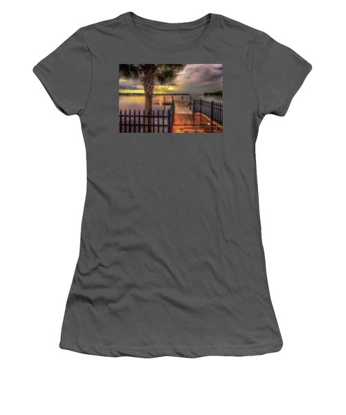 Sunset Storm Women's T-Shirt (Athletic Fit)