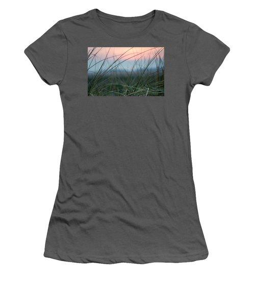 Sunset  Through The Marsh Grass Women's T-Shirt (Athletic Fit)