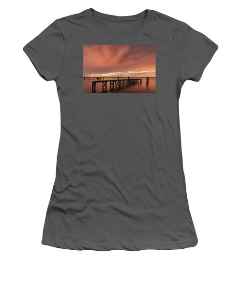 Sunset Thru Storm Clouds Women's T-Shirt (Athletic Fit)