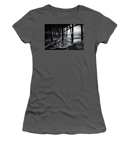 Sunset Under The Santa Monica Pier Women's T-Shirt (Athletic Fit)