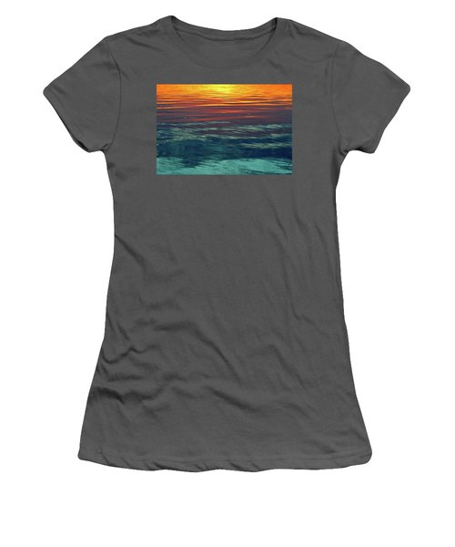 Sunset Water  Women's T-Shirt (Junior Cut) by Lyle Crump