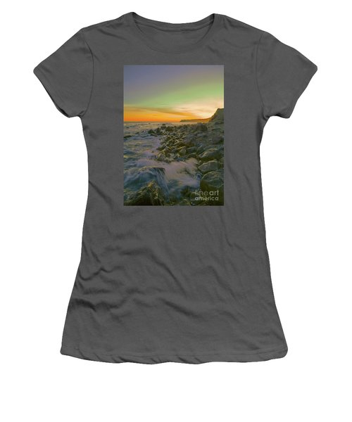Sunset Waves Women's T-Shirt (Junior Cut) by Todd Breitling