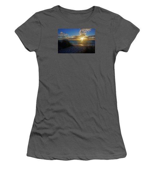 Women's T-Shirt (Junior Cut) featuring the photograph Sunset Windsurfer by Robb Stan