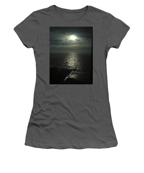 Sunshine Over Central Pier, Atlantic City, Nj Women's T-Shirt (Athletic Fit)
