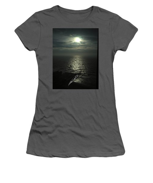 Sunshine Over Central Pier, Atlantic City, Nj Women's T-Shirt (Athletic Fit)