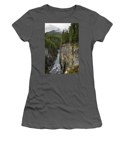 Sunwapta Falls Canyon Women's T-Shirt (Athletic Fit)