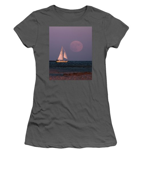Supermoon Two Women's T-Shirt (Athletic Fit)
