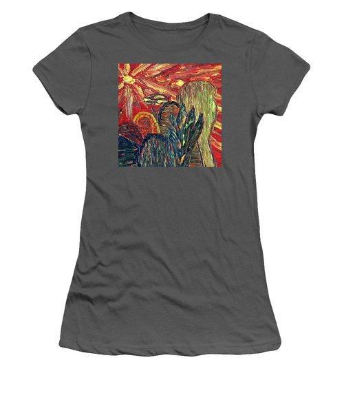 Survival In Desert Women's T-Shirt (Junior Cut) by Vadim Levin