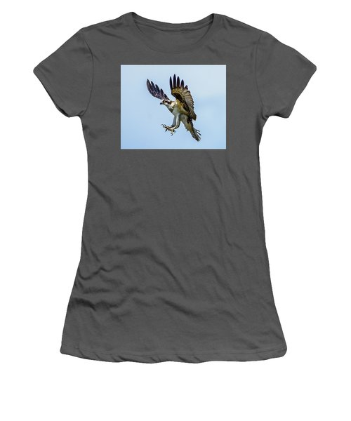 Suspended Osprey Women's T-Shirt (Junior Cut) by Jerry Cahill