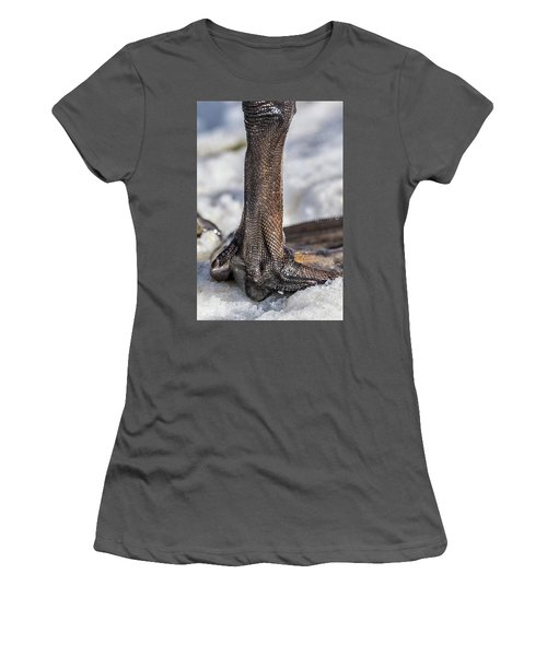 Women's T-Shirt (Junior Cut) featuring the photograph Swan Leg by Paul Freidlund