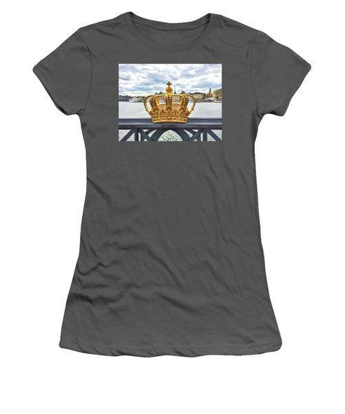 Swedish Royal Crown On A Bridge In Stockholm Women's T-Shirt (Athletic Fit)