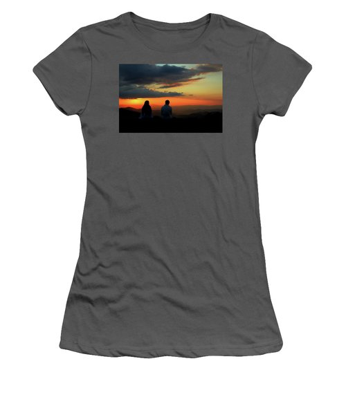 Women's T-Shirt (Junior Cut) featuring the photograph Sweetheart Sunset by Jessica Brawley