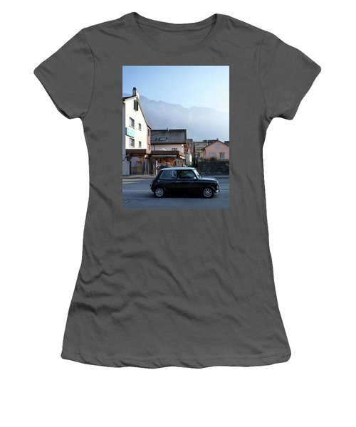 Women's T-Shirt (Junior Cut) featuring the photograph Swiss Mini by Christin Brodie