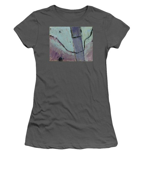 Women's T-Shirt (Junior Cut) featuring the painting Swiss Roof by Paul McKey