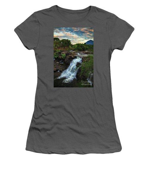 Tad Lo Waterfall, Bolaven Plateau, Champasak Province, Laos Women's T-Shirt (Junior Cut) by Sam Antonio Photography