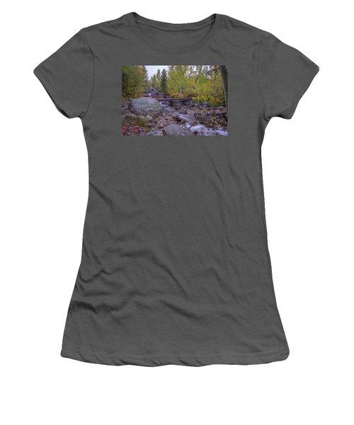 Taggert Creek Waterfall Women's T-Shirt (Athletic Fit)