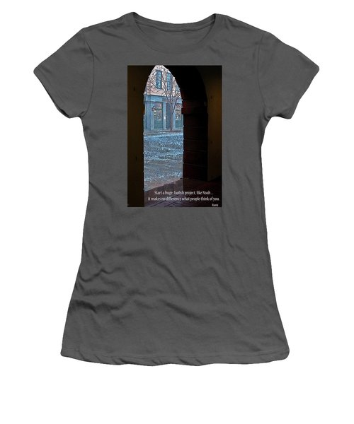 Women's T-Shirt (Junior Cut) featuring the photograph Take A Chance by Rhonda McDougall