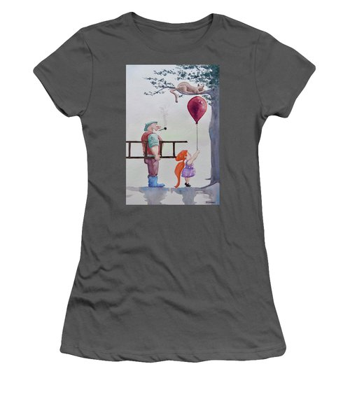 Women's T-Shirt (Junior Cut) featuring the painting Take It Please by Geni Gorani