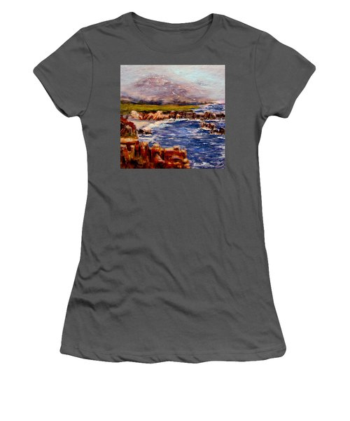 Women's T-Shirt (Junior Cut) featuring the painting Take Me To The Ocean,, by Cristina Mihailescu