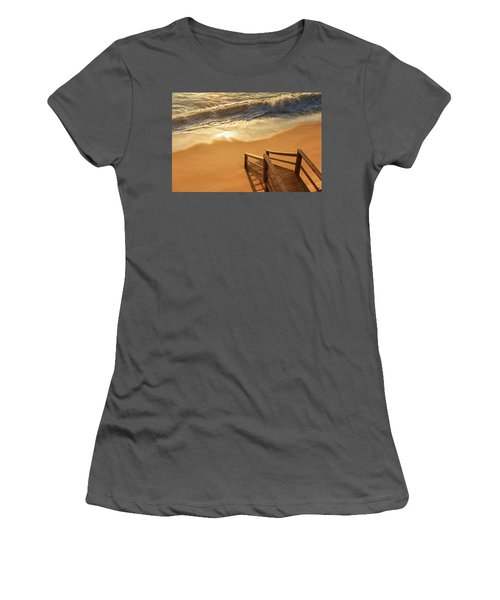 Take The Stairs To The Waves Women's T-Shirt (Junior Cut) by Joni Eskridge