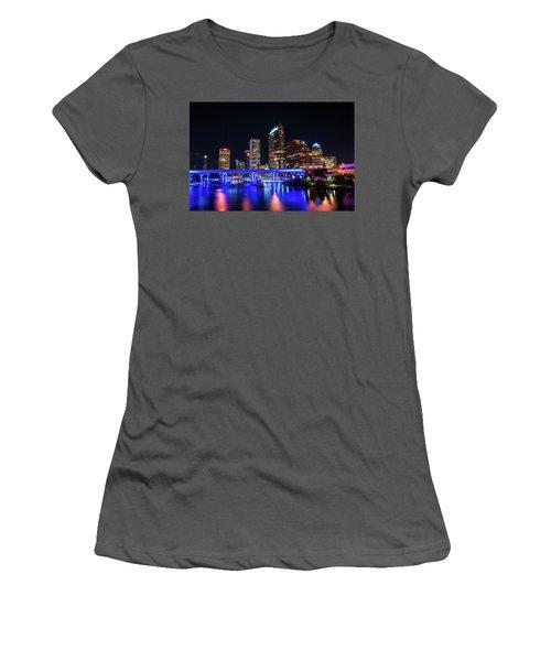 Tampa Skyline Women's T-Shirt (Junior Cut) by Steven M