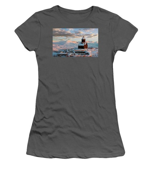 Tanahat Monastery At Sunset In Winter, Armenia Women's T-Shirt (Athletic Fit)