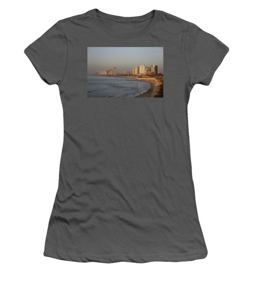 Tel Aviv Coast. Women's T-Shirt (Athletic Fit)