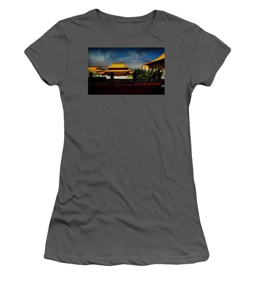 Women's T-Shirt (Junior Cut) featuring the photograph Temple Candles by Joseph Hollingsworth