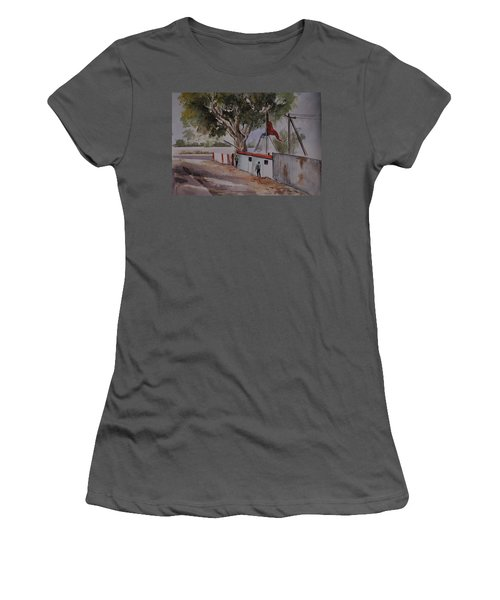 Temple Scene1 Women's T-Shirt (Athletic Fit)