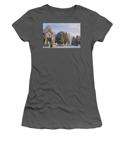 Ten Stations Of The Cross Christmas Morning Women's T-Shirt (Athletic Fit)